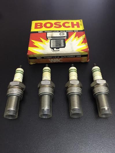 VELA DE IGNICAO BOSCH W8C PASSAT L/LS ALFA 2300 ( JOGO 4 PEÇAS )