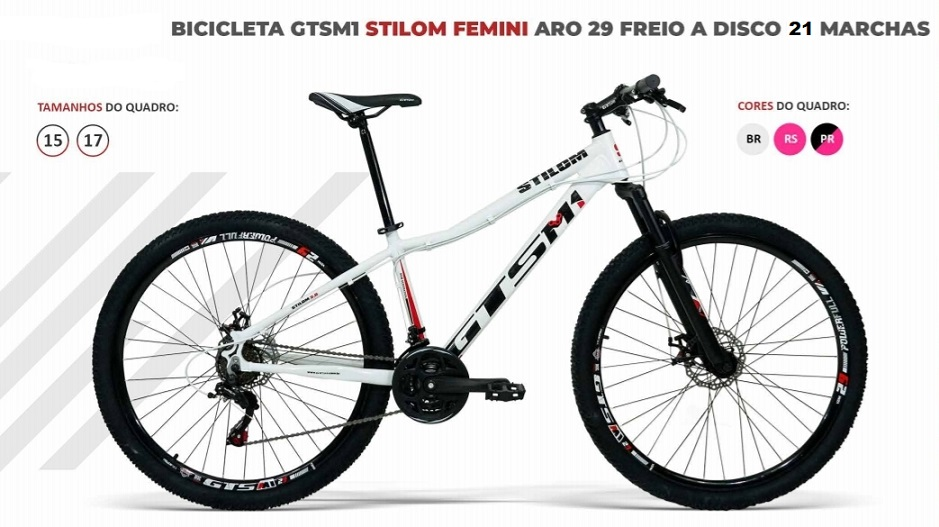 BICICLETA GTSM1 STILOM FEMINI TSI 7 FREIO DISCO 21 MARCHAS  ((( QUADRO DE ALUMÍNIO )))